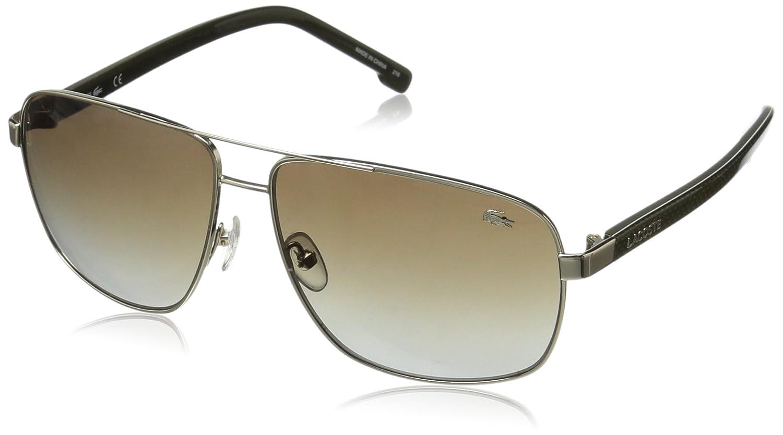 beb67f51ca Amazon.com  Lacoste Men s L162S Aviator Sunglasses Gold 61 mm  Clothing