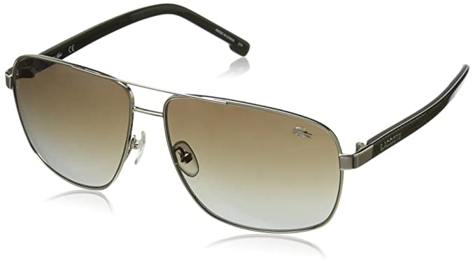 0d2a806310e Amazon.com  Lacoste Men s L162S Aviator Sunglasses Gold 61 mm  Clothing