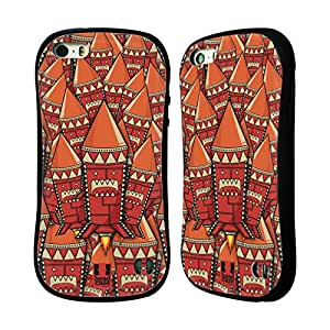 Head Case Designs Aztec Rocket Monsters Hybrid Gel Back Case for Apple iPhone 5 5s