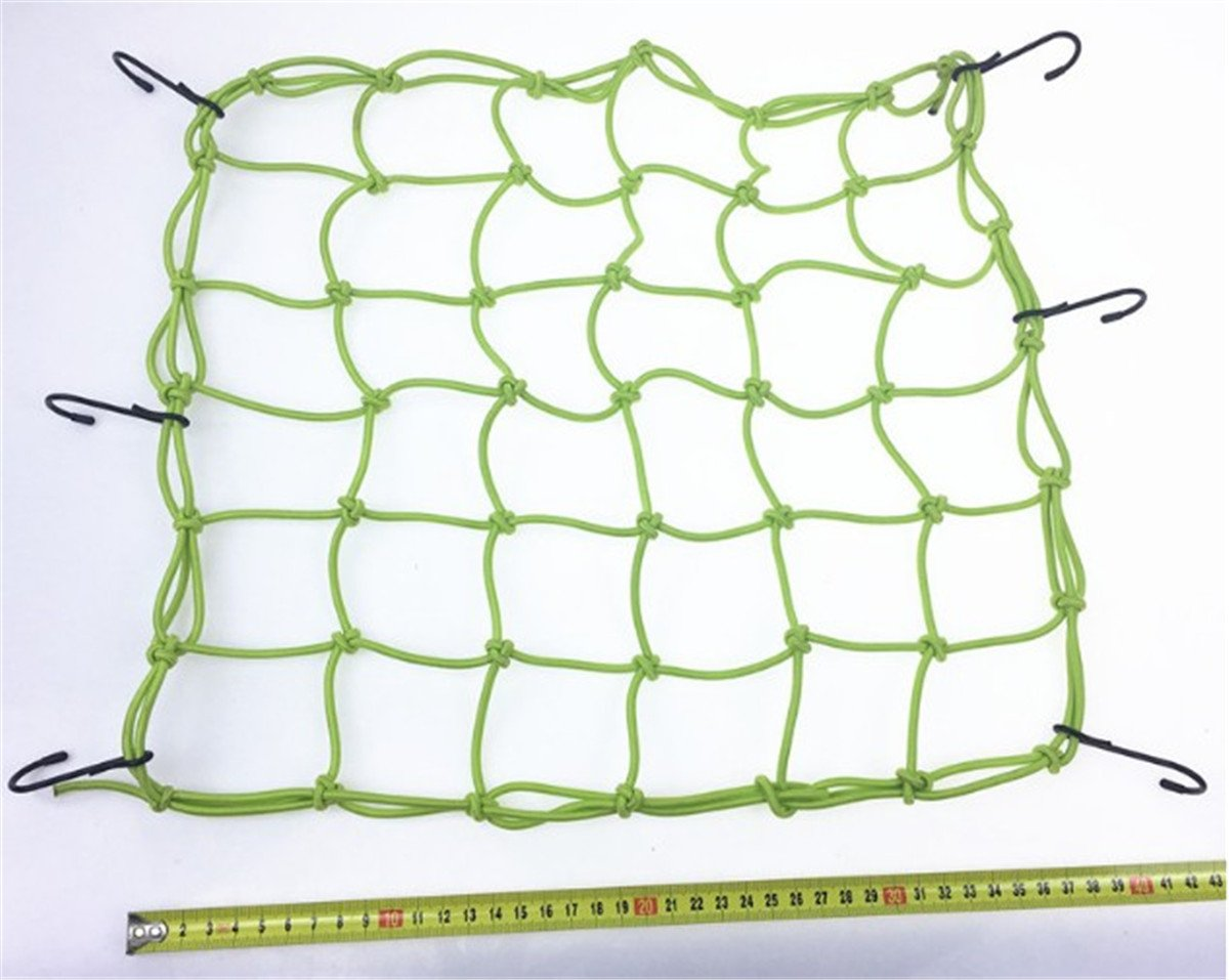 Blue BININBOX Cargo Net With 6 Durable Hooks Nylon Large Stretches Adjustable Mesh Elastic Lightweight Bungee Cord