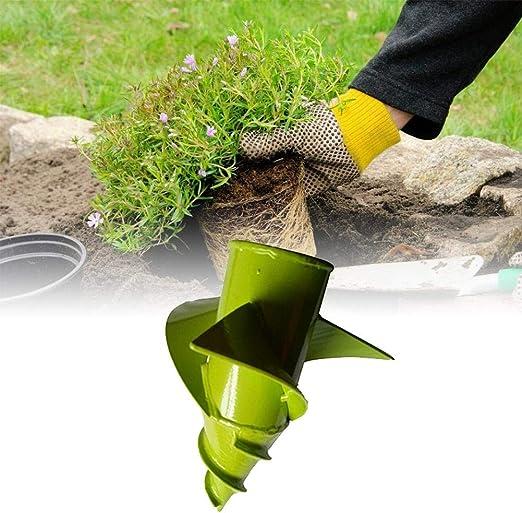 humflour - Bombilla de jardín para Cultivar Suelos de jardín, barrena de Mano, Perforadora de Mano a Prueba de óxido, para Plantar Bombillas de Color en Maceta y Bombillas más Grandes: Amazon.es: