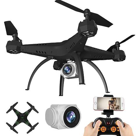 Helicóptero RC, Mamum 2.4G HD Cámara FPV WIFI Drone Quadcopter UAV ...