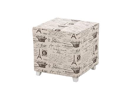 Clp sgabello cubo amaja cm pouf quadrato con piedini