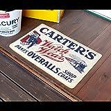 玄関マット おしゃれ コイルマット CARTER'S Sサイズ 40×60cm ラバーマット フロアマット アメリカ雑貨 アメリカン雑貨 [並行輸入品]