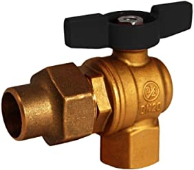 1 in. Brass FPT x Flare 1/4 Turn Meter Valve No Lead