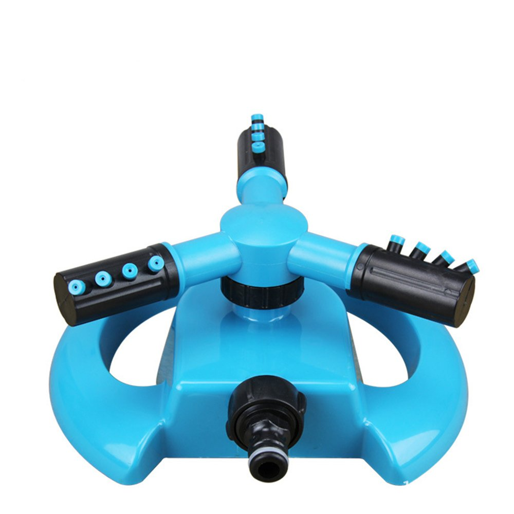 Amazon.com : Lawn Sprinkler, TOLOCO Garden Automatic 360 Degree ABS  Rotation Spray Nozzle Watering Head Gardening Supplies Three Arm Water  Sprinkler ...