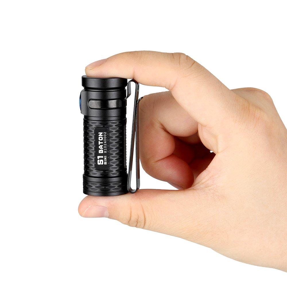 Linterna de bolsillo ultra compacta alto grado de renderizado de los colores CRI 90/LED XP-G3/CW, 450/lumens//CRI 70/XM-L2/CW 600/lumens, para camping//actividades al aire libre Olight S1/Mini Baton