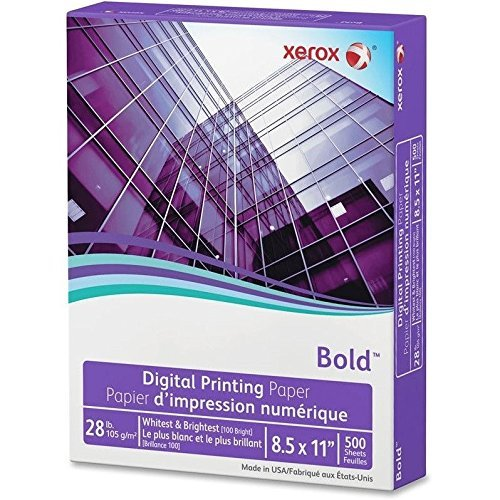 Xerox Digital Color Xpressions Elite Paper, 28 lb. 8.5 x 11 Inches, Blue/White, 500 Sheets (3R11760) (White Writing 28lb Paper)