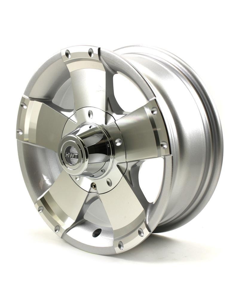HWT 145545 14X5.5 5/4.5 Aluminum Series01 Trailer Wheel