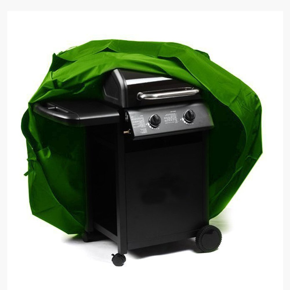 QEES Multi-size Square BBQ Gas Grill Cover with Closed Strap Waterproof Polyester Outdoor Garden Barbecue Cover Cube Furniture Cover Fit Most Grill Components JJZ20