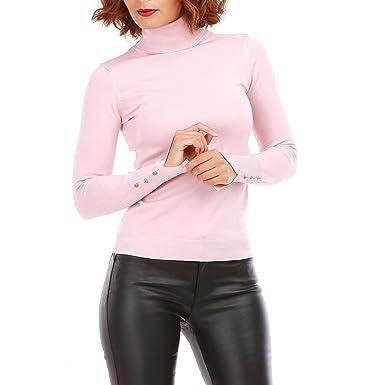La Modeuse - Pull col roulé Femme à la Maille Fine  Amazon.fr  Vêtements et  accessoires 8b58febd4517