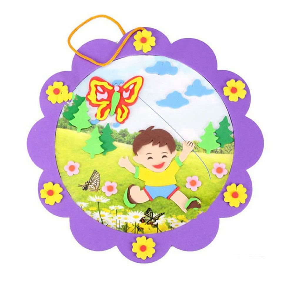 相框貼畫 帶框貼畫粘貼畫立體貼畫 diy手工 多圖可選 裝飾兒童房間