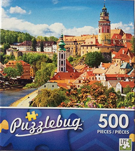 Puzzlebug 500 pieces - Beautiful View of Church and Castle in Cesky Krumlov, Czech Repulic