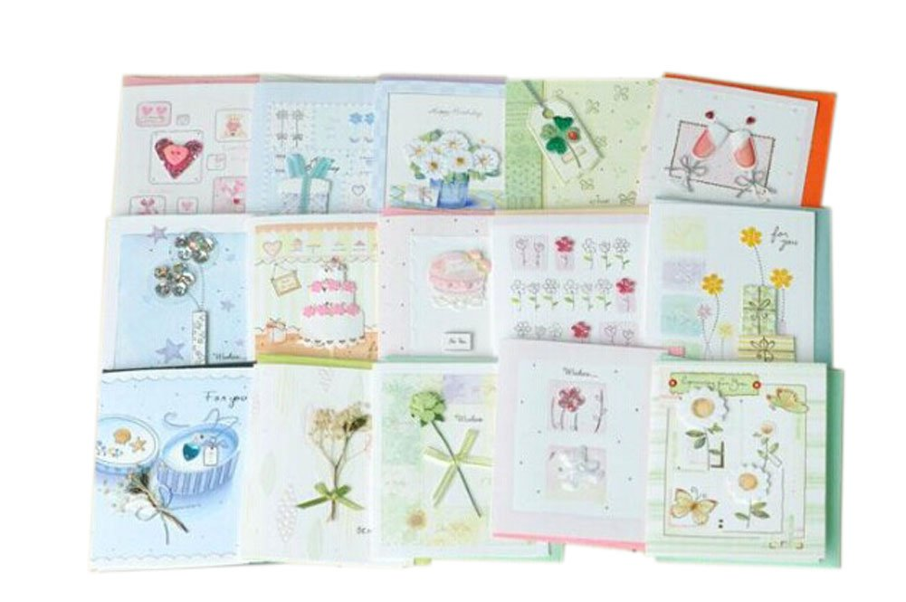 Lovely Assortment All Occasion Greeting Cards, Pack Of 15, Random Delivery PANDA SUPERSTORE