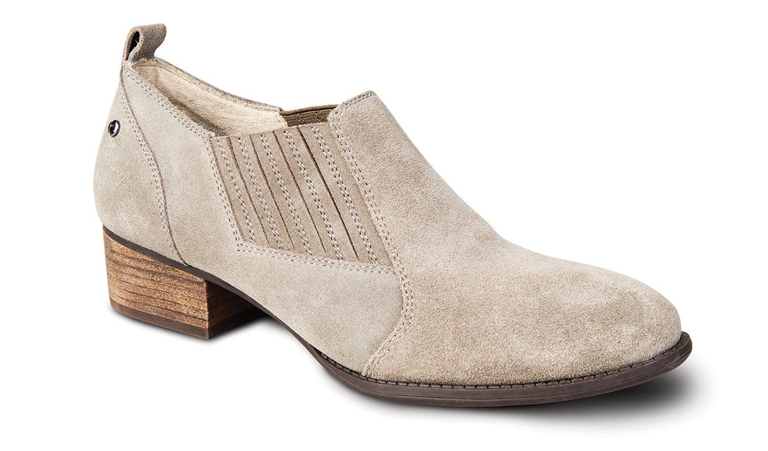 Revere Palerma Women's Shoe w. Removable Foot Bed: Taupe 8 Wide (D) Slip-on
