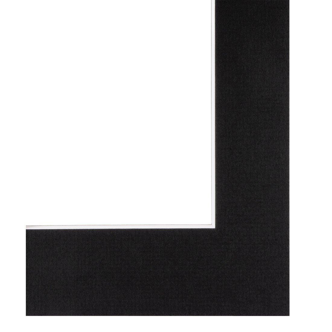 Hama 00063247 Passe-partout , 40 x 50 cm per foto 30 x 40 cm, colore: Nero
