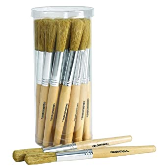 Wooden chubby paint brush brilliant phrase