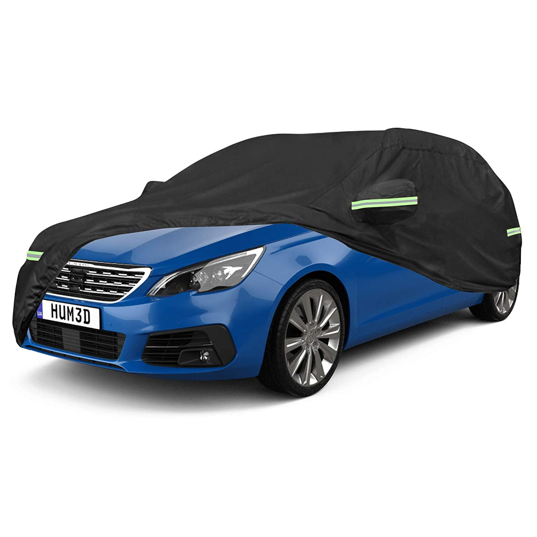 NOVSIGHT Talla M Universal Funda para Coche Auto en 420D Oxford Impermeable Anti-UV Negro 450x175x160CM
