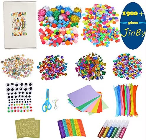 Assorted Arts and Crafts Supplies for KidsToddler Craft Material Kit for School ActivitiesAll in One D.I.Y(X-Large)