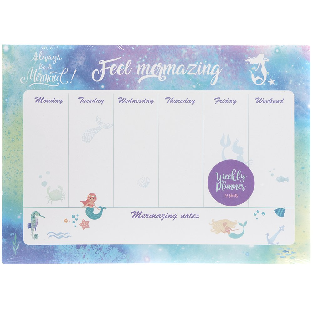 Busy MUM settimanale/scolastico planner Pad–always be a Mermaid design–use AS Meal planner, scuola planner, Jobs list or for Messages Buzz