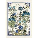 Michel Design Works Single 28 x 20 inch Cotton Kitchen Towel, Blue
