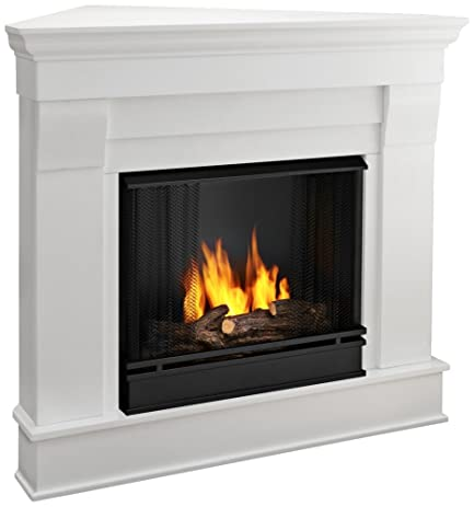 Amazon.com: Chateau Corner Gel Fireplace in White: Home & Kitchen