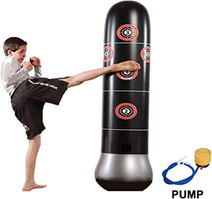April Story Heavy Punching Bag Freestanding Standing Rebound Quickly De-Stress Fitness for Kids//Adults