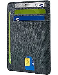 Slim Minimalist Front Pocket RFID Blocking Leather Wallets for Men & Women