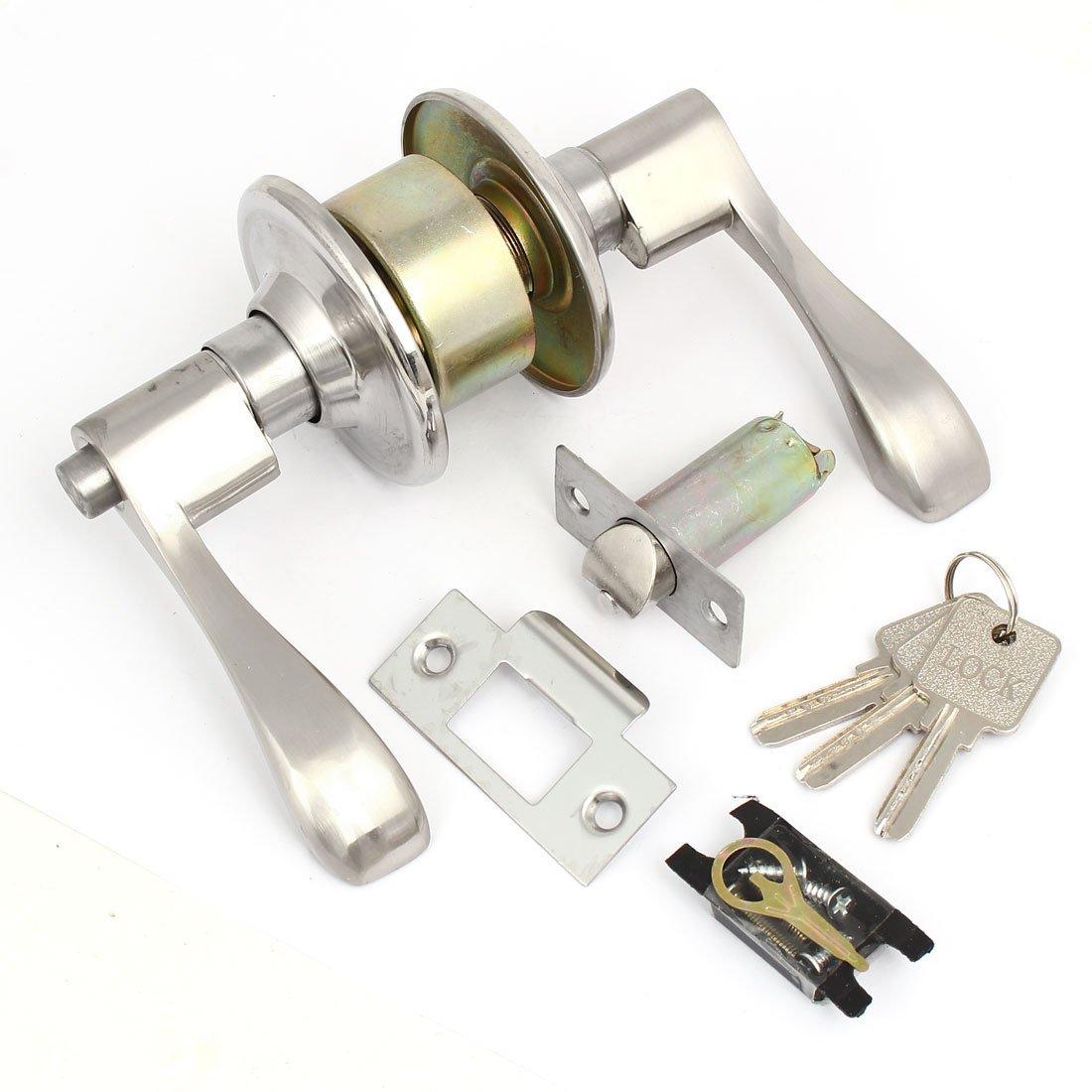 eDealMax doméstico Aseo Puerta de la mano izquierda en forma de L cerradura de la manija Lockset w Teclas - - Amazon.com