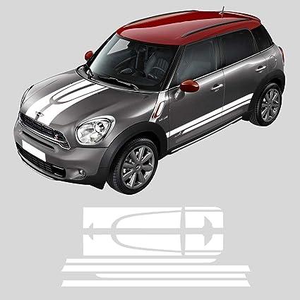 Mini Cooper Accessories 2013 >> Exterior Accessories Black Set Car Side Racing Stripes Hood