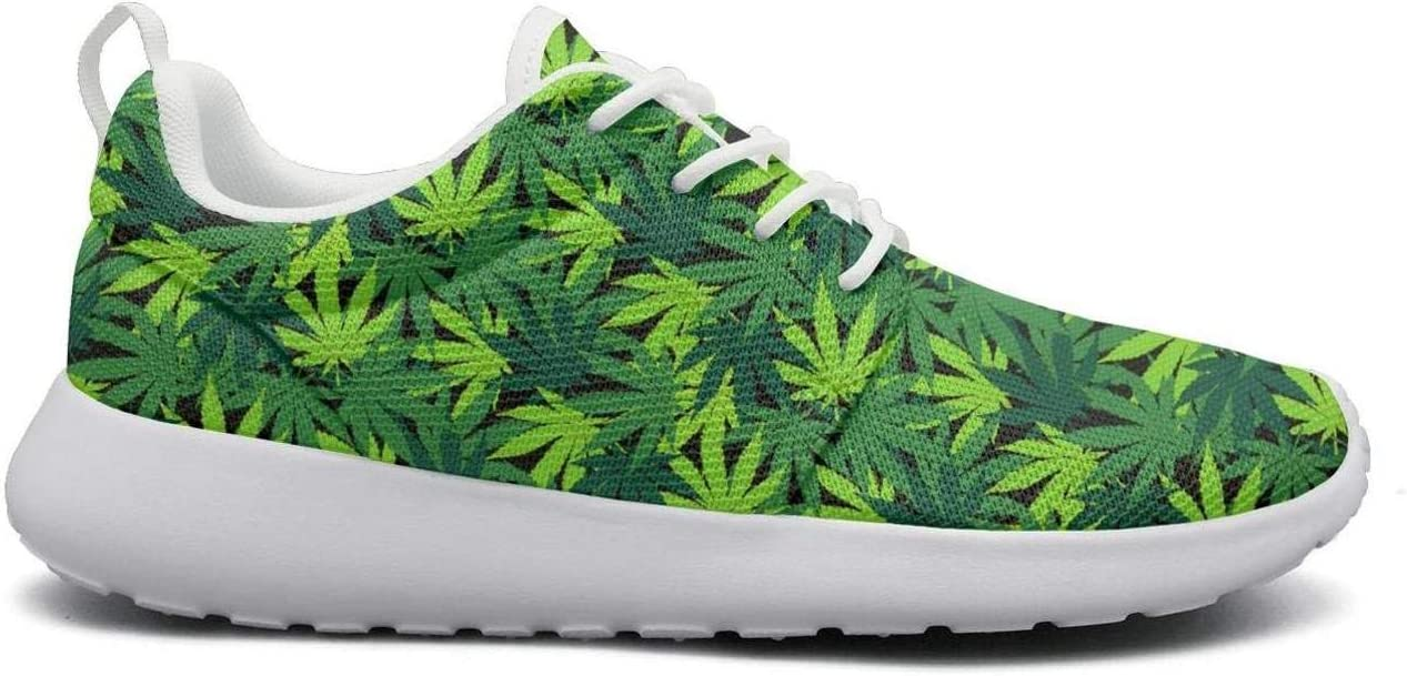 Eoyles gy Cannabis Plant Green Poster Womens Slip Resistant Lightweight Running Gym Shoes