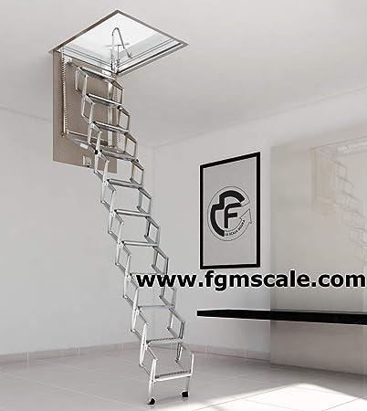 Escalera Escamoteable Pantógrafo Buhardilla pantógrafo manual lado S50: Amazon.es: Bricolaje y herramientas