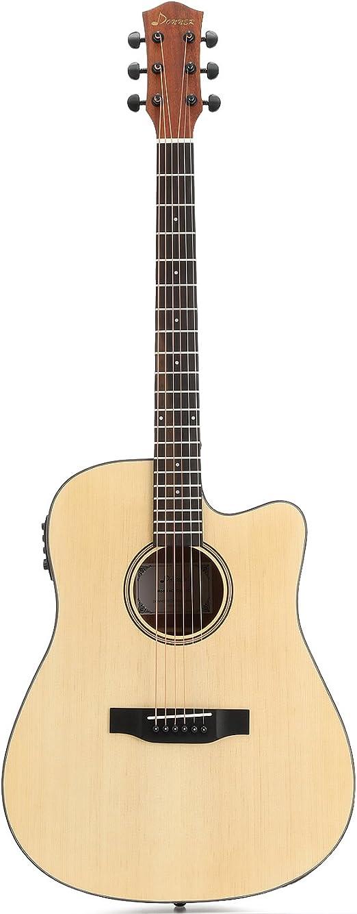 Donner dag-1ce eléctrica guitarra acústica Cutaway 41