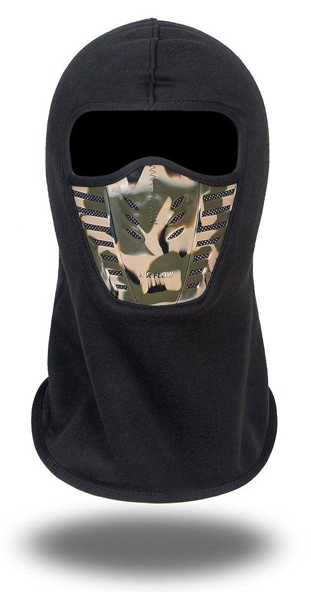 Saoirse.Hats Winddichte Vollgesichtsmaske aus Fleece, Einheitsgröße, Unisex, Winterliche Outdooraktivitäten Einheitsgröße