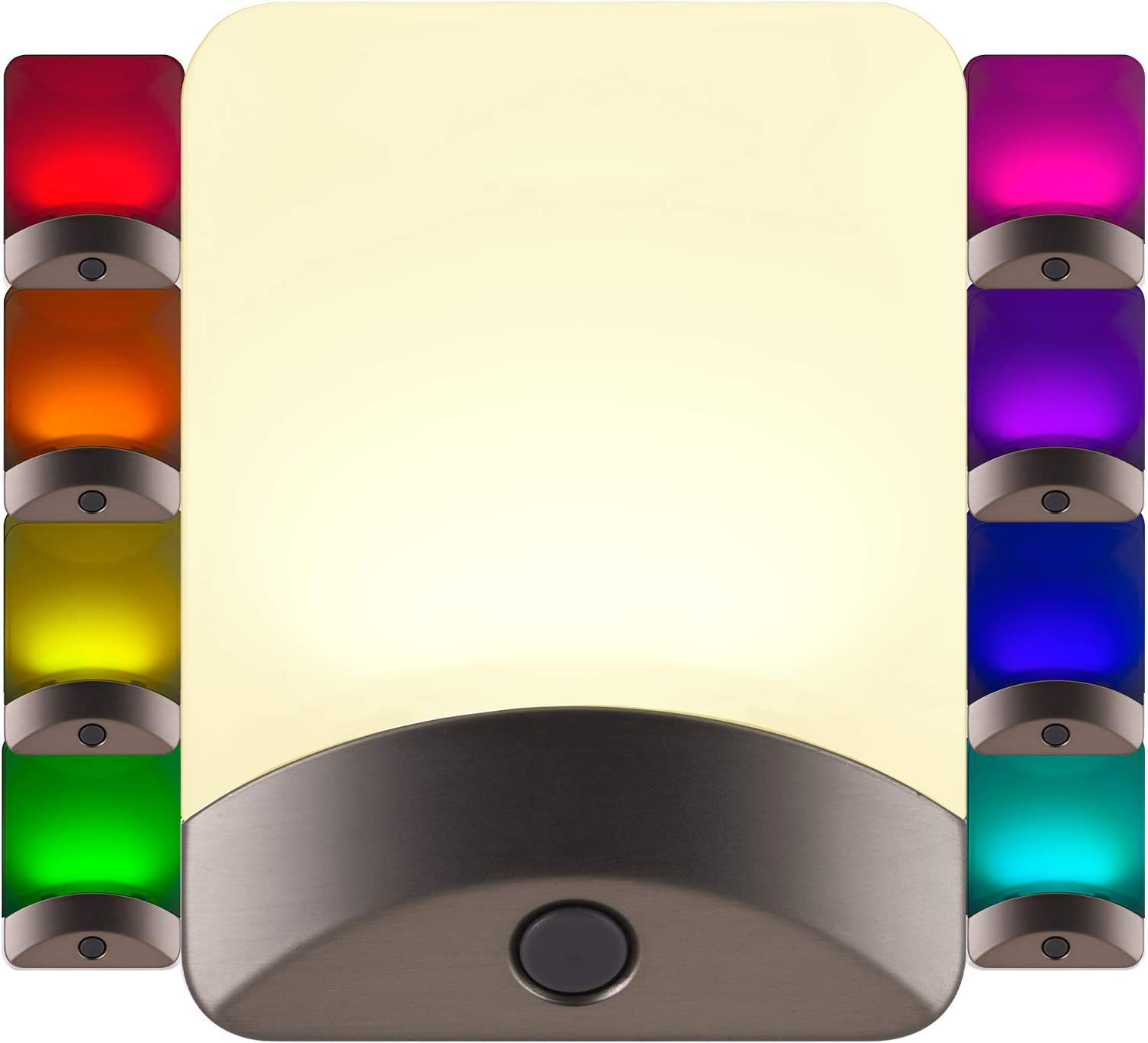 Clear Mouse Wall Plug In Gift For Man Woman Teen Bathroom Bedroom Kitchen Decor Stained Glass Night Light Light Sensor Rotating Base