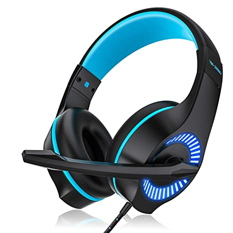 AceMining Gaming Headset,USB Headset,Wired Headset with Clear Sound,for  PS4, PC, Xbox One Controller and so on, Noise Cancelling Over Ear  Headphones