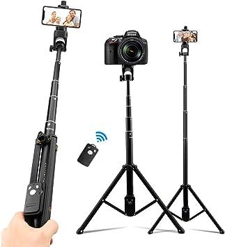 Comprar AFAITH Palo Selfie Trípode para Cámara Deportiva Teléfono 3 en 1,54 pulgadas Monopod extensible con control remoto Bluetooth para GoPro Hero 9/8/7/6 Black Nikon Canon iPhone Samsung Huawei