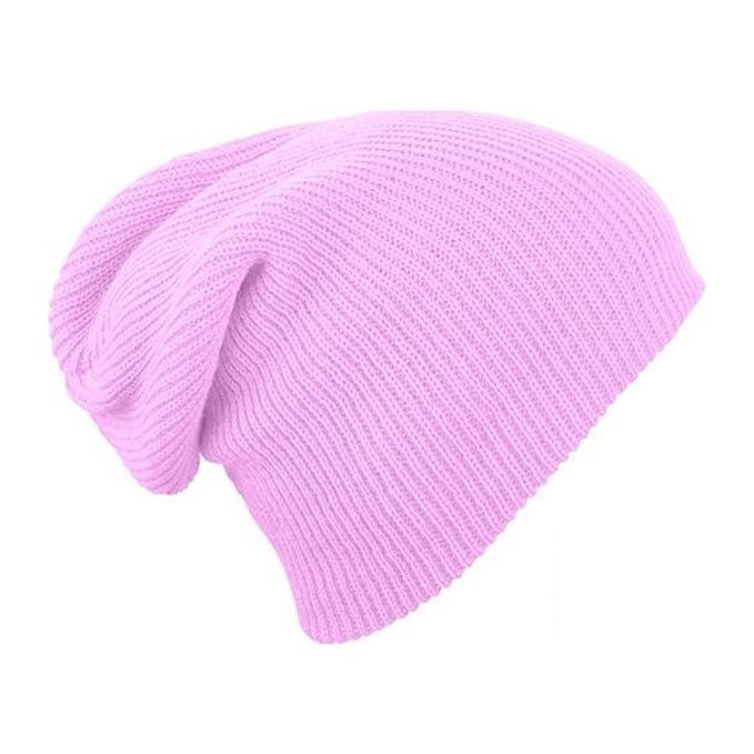 Simply Gorgeous Gorrita flexible para hombre mujer de punto de lana del  sombrero del invierno - Rosa rosado  Amazon.es  Ropa y accesorios 2d39c17015c