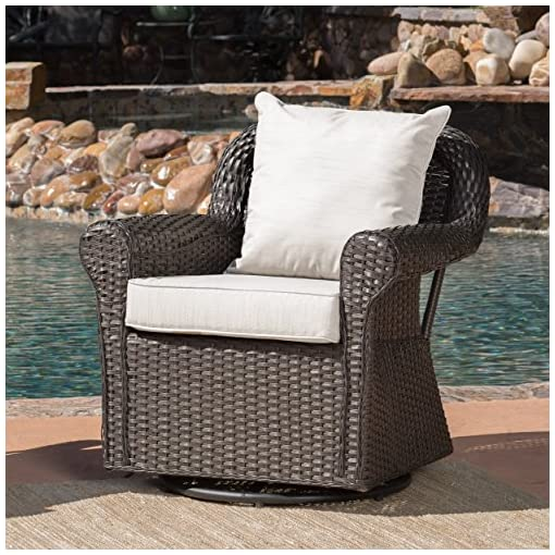 Prime Christopher Knight Home Augusta Patio Furniture Outdoor Wicker Swivel Rocker Glider Chair Single Beatyapartments Chair Design Images Beatyapartmentscom