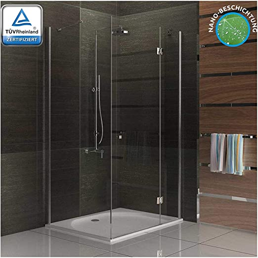 Diseño cuadrado y ducha de cristal ducha mampara de 100 x 80 x 195 ...