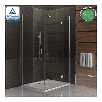 ALPENBERGER Duschwand Duschabtrennung Glas NANO Dusche Schiebetür Badezimmer NEU