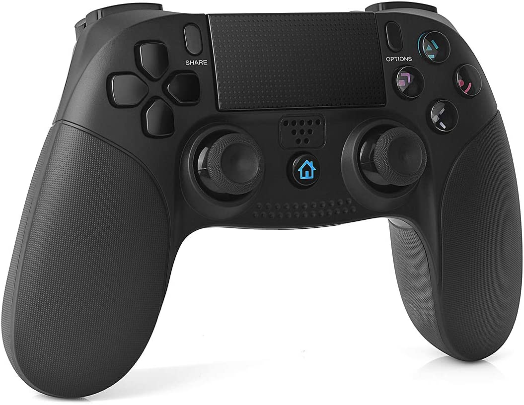 TUTUO Mando Inalámbrico para PS4, Gamepad Wireless Bluetooth Controlador Controller Joystick con Vibración Doble Remoto Compatible con Playstation 4/PS4 Slim/Pro and PS3/PC(Windows 7/8/10)