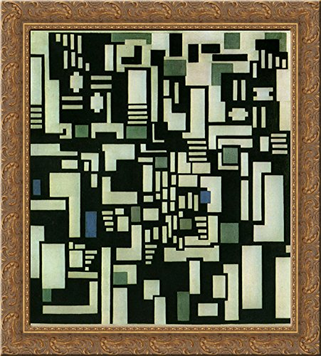 Composition IX, opus 18, 1917 24x20 Gold Ornate Wood Framed Canvas Art by Theo van Doesburg ()