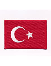 hegibaer 30 x 20 mm Turkije vlag Turkije Cumhuriyeti patch opstrijkbaar 0633 Mini