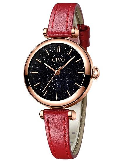 CIVO Relojes Mujer Minimalista Impermeable Reloj de Pulsera de ...