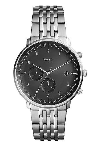 0e5f2835b41b Fossil Reloj Cronógrafo para Hombre de Cuarzo con Correa en Acero Inoxidable  FS5489  Amazon.es  Relojes