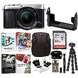 Fujifilm X-E3 Mirrorless Digital Camera w/XF18-55mm f/2.8-4 R LM OIS Lens (Silver) w/BLC Leather Case, 64GB Memory Card & Editing Software Bundle