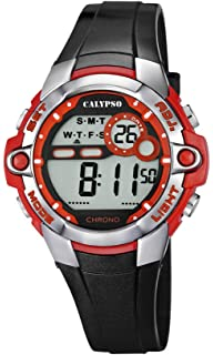 Calypso watches Calypso watches - Reloj digital de cuarzo para niño con correa de plástico,