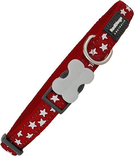 Red Dingo GmbH 9330725046283 Collar Perro Estrella, L, Blanco y ...