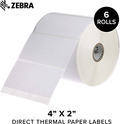 Amazon.com: Zebra - Etiquetas de papel térmico directo ...